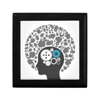 Head of hands gift box