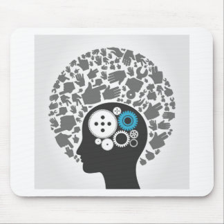 Head of hands mouse pad