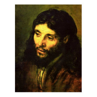 Head of Jesus By Rembrandt Postcard
