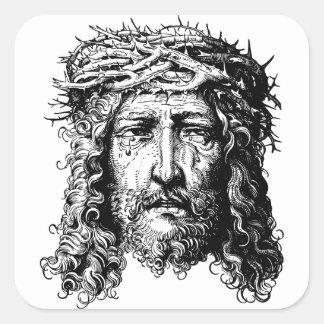 Head of Jesus Christ Square Sticker