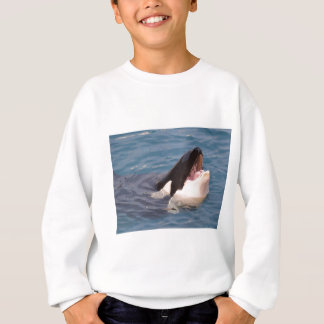 Head of killer whale sweatshirt