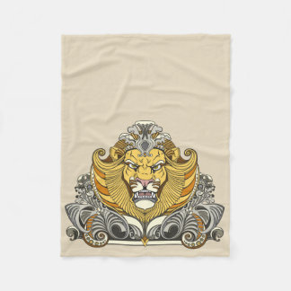 head of lion fleece blanket