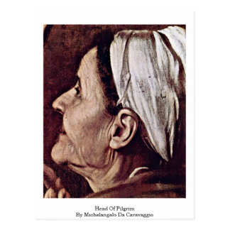 Head Of Pilgrim By Michelangelo Da Caravaggio Postcard