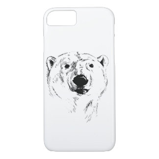 Head of Polar Bear iPhone 8/7 Case