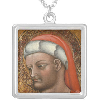Head of St. Cosmas Silver Plated Necklace