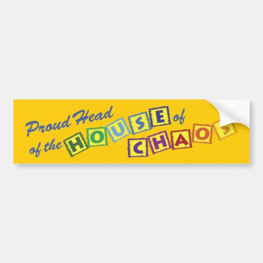 Head of the House of Chaos Bumper Stickers