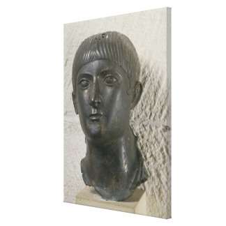 Head of young man, aka 'The Young Aquitaine Canvas Print
