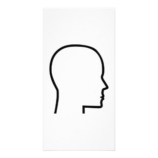Head Custom Photo Card