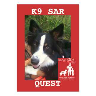 head-QUEST, KlassKids Search Team K9 Business Card