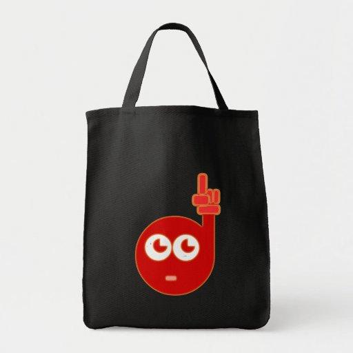 Head red fingers head talk bag