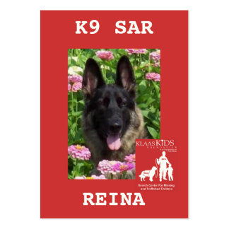 head-REINA, KlassKids Search Team K9 Large Business Cards (Pack Of 100)