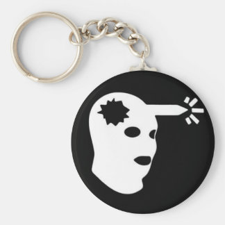 head shot key chain