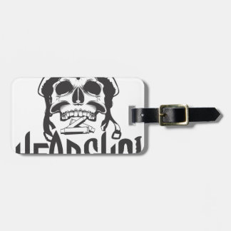Head shot luggage tag