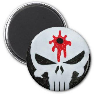 Head Shot 6 Cm Round Magnet