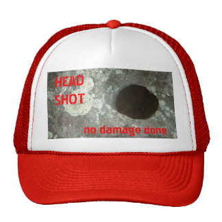 HEAD SHOT, no damage done Cap