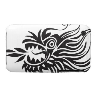 Head shot of dragon iPhone 3 covers
