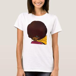 Head Shot of Supa; Big Afro; Supa Hero; Ms Supa T-Shirt
