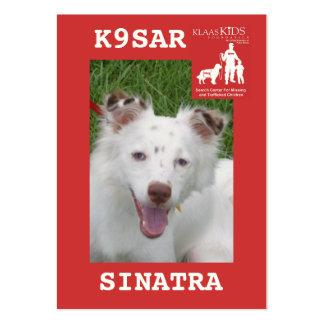 head-SINATRA, KlassKids Search Team K9 Business Card