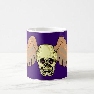 Head skull wing skull wings mug