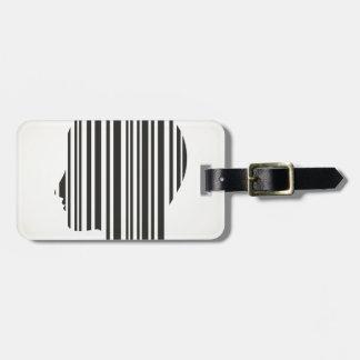 Head stroke a code luggage tag