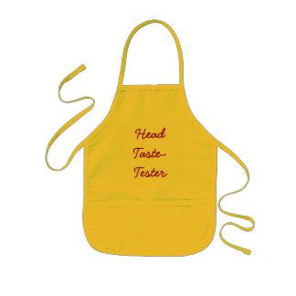 Head Taste-Tester (Kids or Adult) Kids Apron