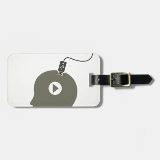 Head the computer luggage tag