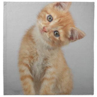 Head Tilt Kitten Napkin
