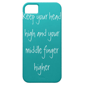 Head up, Finger higher Case For The iPhone 5