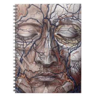 Head Veins and Muscles Spiral Notebook
