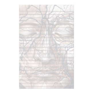 Head Veins and Muscles With Lines Stationery