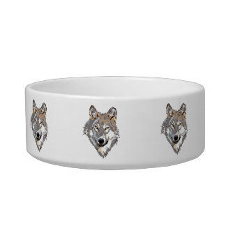 Head wolf - wolf illustration - american wolf bowl