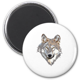 Head wolf - wolf illustration - american wolf magnet