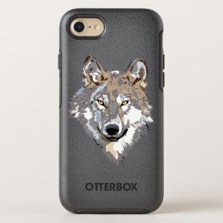 Head wolf - wolf illustration - american wolf OtterBox symmetry iPhone 8/7 case