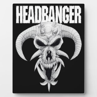 Headbanger Skull Plaque