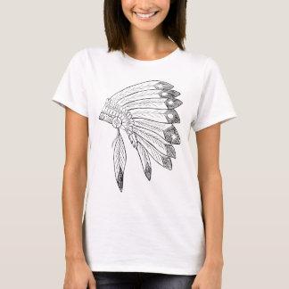 Headdress - Native American Illustration T-Shirt