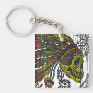 Headdress Skull Key Ring