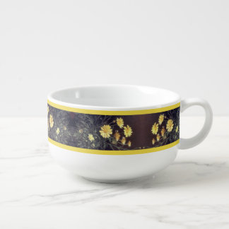 Heade Daisy Flowers Floral  Trim Bowl