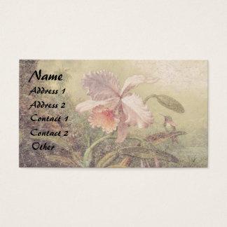 Heade Hummingbird Bird Orchid Flower Business Card