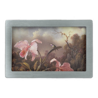 Heade Hummingbird Bird Orchid Flowers Belt Buckle