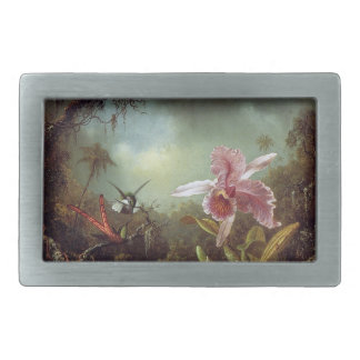 Heade Hummingbird Birds Orchid Flowers Belt Buckle