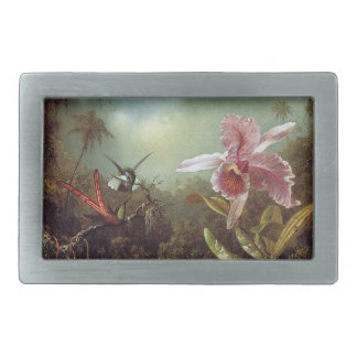Heade Hummingbirds Orchid Flowers Belt Buckle