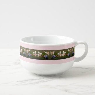 Heade Lilies Heliotrope Flowers Floral Trim Bowl