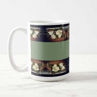 Heade Magnolia Flowers Floral Trim Mug