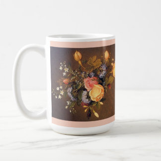 Heade Rose Rosebud Flowers Bouquet Mug