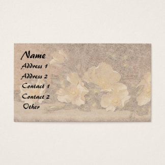 Heade Roses Flowers Floral Trim Business Cards