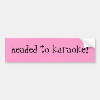 headed to karaoke! bumper sticker