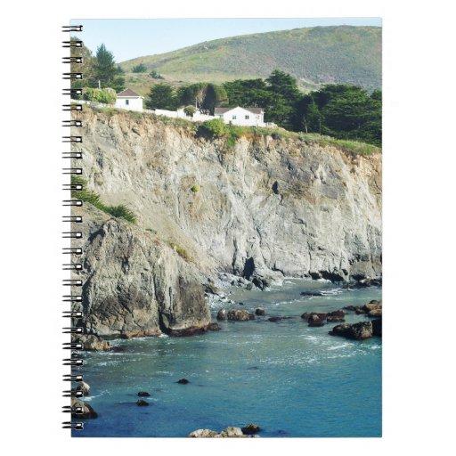 Headlands Northern California Oceanside Spiral Note Books