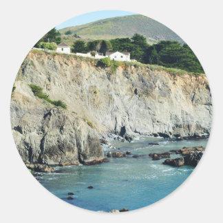 Headlands Northern California Oceanside Round Sticker