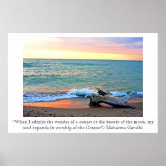 Headlands Sunset Poster