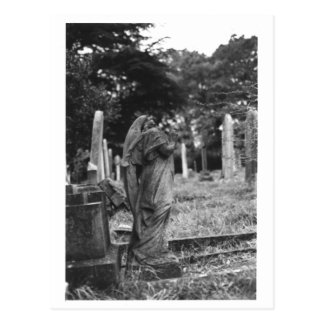Headless Angel Statue Old Cemetery Postcard